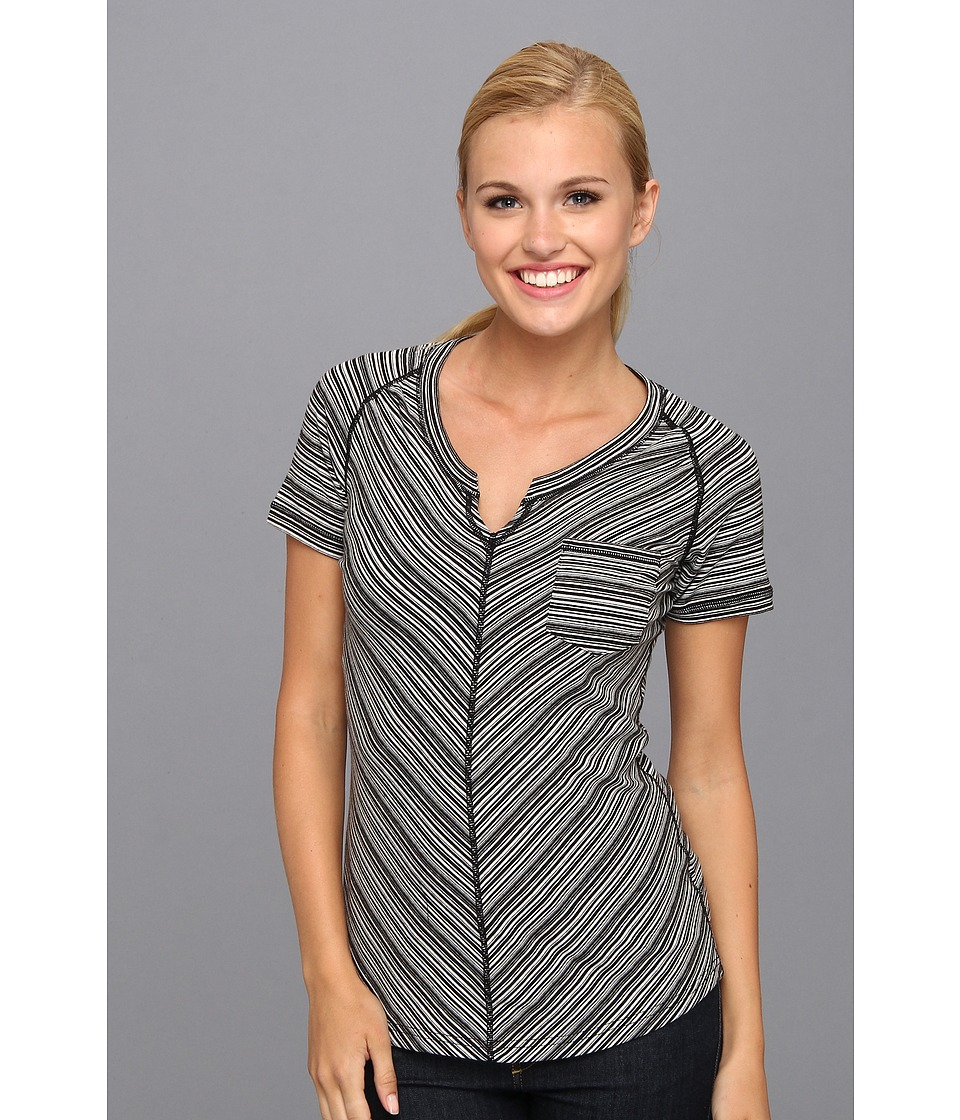 ExOfficio - Go-To Pocket Stripe S/S (Black/White) Women