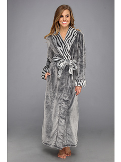 SALE! $64.99 - Save $75 on Natori Lynx Micro Velour Robe (Black) Apparel - 53.58% OFF $140.00