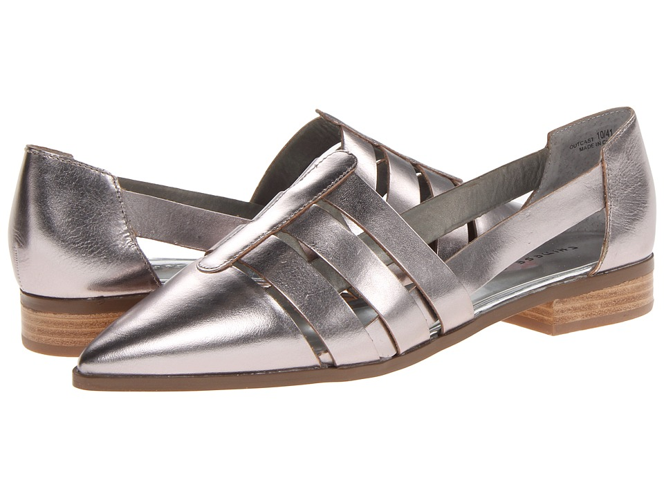 Chinese Laundry - Outcast Metallic (Silver Glass) Women's Slip on Shoes