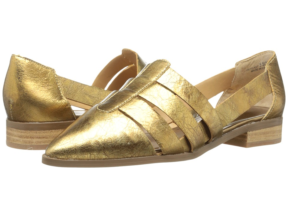 Chinese Laundry - Outcast Leather (Gold/Silver) Women's Slip on Shoes