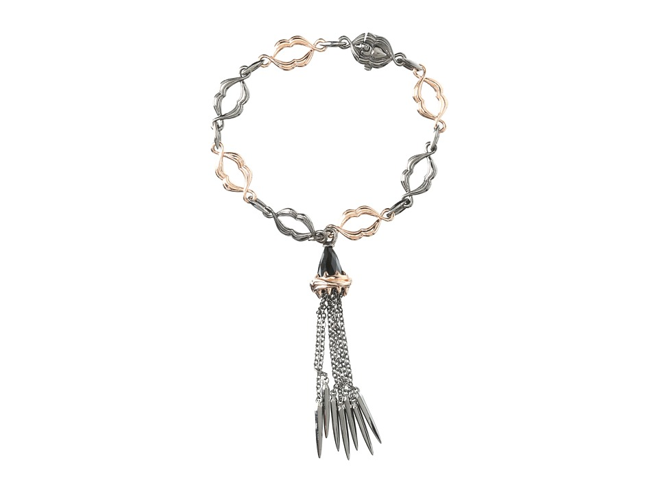 Stephen Webster - La Dents De La Mer Shark Jaw Tassel Bracelet (Rose Gold/Black Rhodium) Bracelet