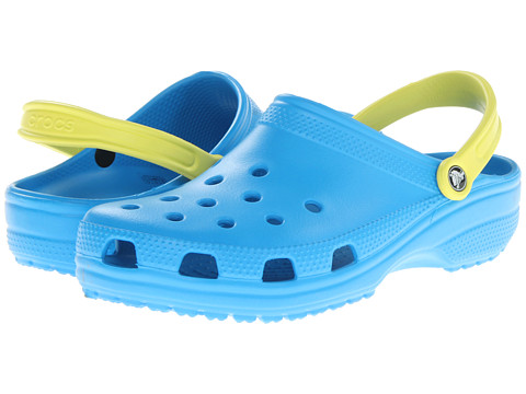 Crocs - Classic (Cayman) - Unisex (Ocean/Citrus) Clog Shoes