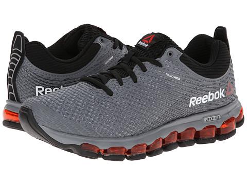 Reebok - Z Jet (Foggy Grey/Black/White/China Red) Men's Running Shoes