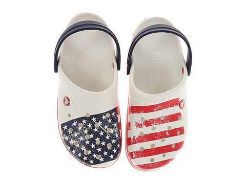 Crocs - Crocband World Cup ((USA) White/Red) Shoes