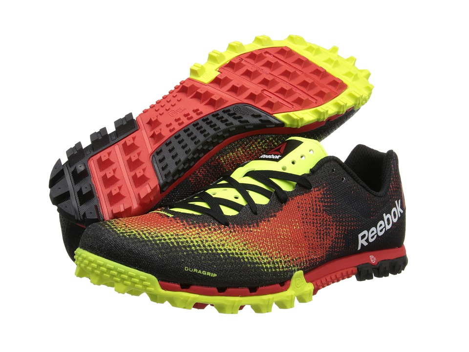 Reebok - All Terrain Sprint (Neon Yellow/China Red/Black/White) Men's Running Shoes