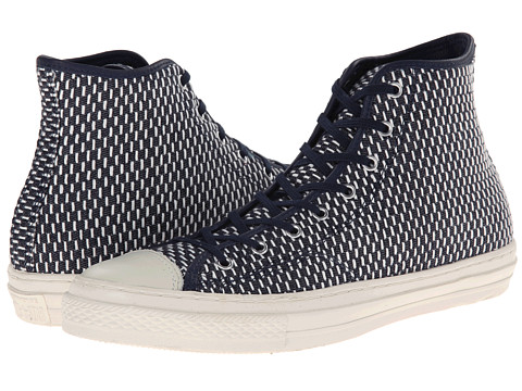 Converse - Chuck Taylor All Star Premium Woven Hi (Ensign Blue) Athletic Shoes