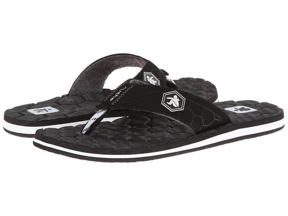 Cushe - Flipside (Black/White) Men's Sandals