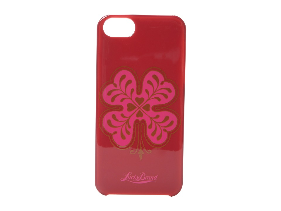 Lucky Brand - Pink Clover Phone Case (Pink) Cell Phone Case