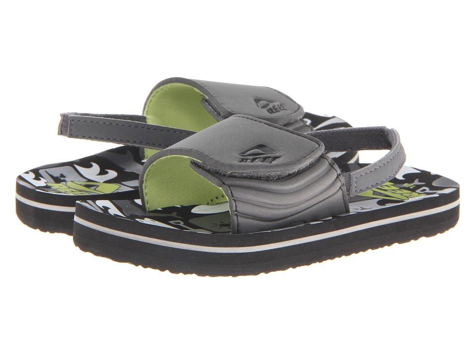 Reef Kids - Grom Ahi Slide (Infant/Toddler/Little Kid/Big Kid) (Grey Boards) Boys Shoes
