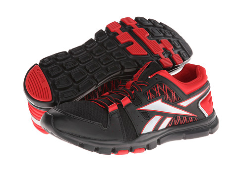 Reebok Yourflex Train RS 4.0 (Black/Stadium Red/Pure Silver) Men's Cross Training Shoes