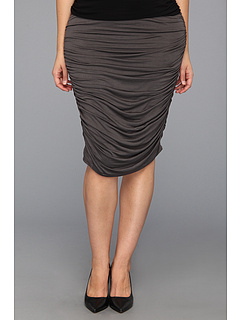 SALE! $24.99 - Save $53 on Kiyonna Riley Ruched Skirt (Twilight Grey) Apparel - 67.96% OFF $78.00