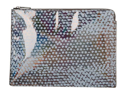 Marc by Marc Jacobs - Techno Lynne Print 13 Computer Zip Case (Gunmetal Multi) Computer Bags