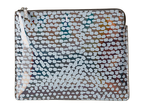 Marc by Marc Jacobs Techno Lynne Print Tablet Zip Case (Gunmetal Multi) Computer Bags