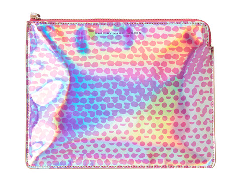 Marc by Marc Jacobs - Techno Lynne Print Tablet Zip Case (Rose Gold Multi) Computer Bags