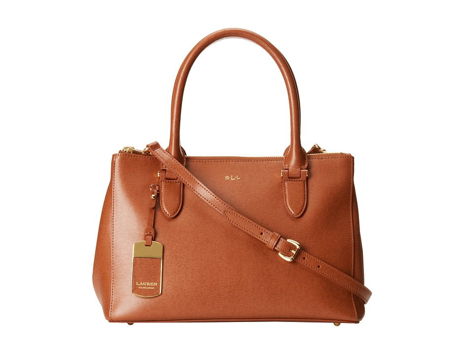 LAUREN Ralph Lauren - Newbury Double Zip Shopper (Lauren Tan) Satchel Handbags