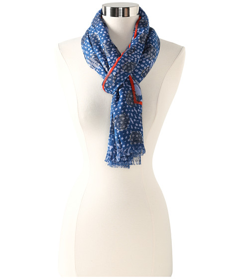 Marc by Marc Jacobs - Lynne Print Scarf (Sparrow Blue Multi) Scarves