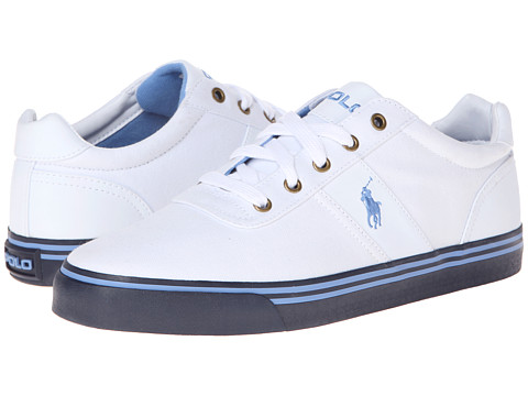 Polo Ralph Lauren - Hanford (Pure White/Harbor Island Blue/Navy) Men's Lace up casual Shoes
