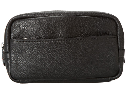 Marc by Marc Jacobs - Classic Leather Toiletry Kit (Black) Toiletries Case