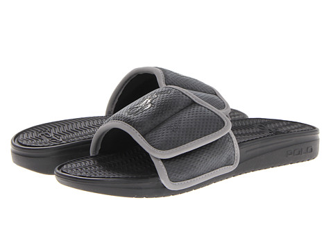 Polo Ralph Lauren - Romsey (Black/Grey) Men's Slide Shoes