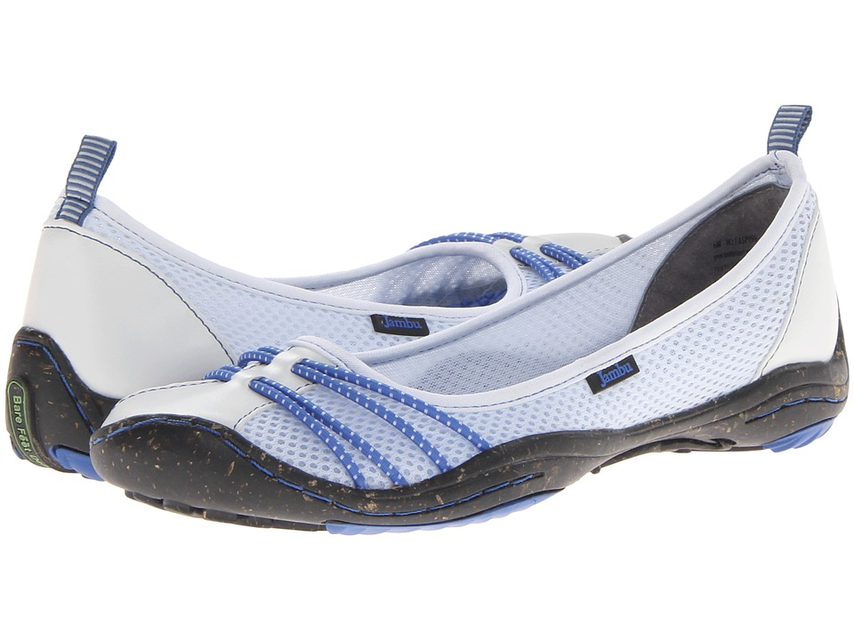Jambu - Spin - Barefoot Water Ready (White/Indigo) Women's Shoes