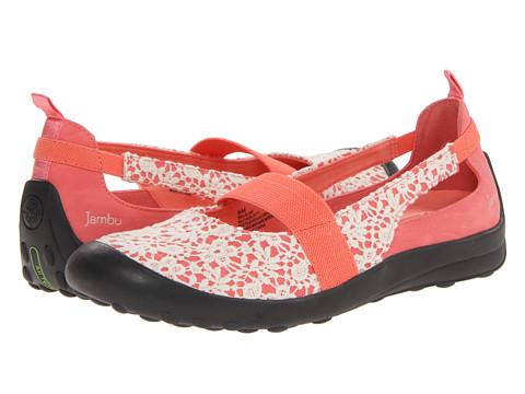 Jambu - Delilah (Coral/Ivory) Women's Shoes