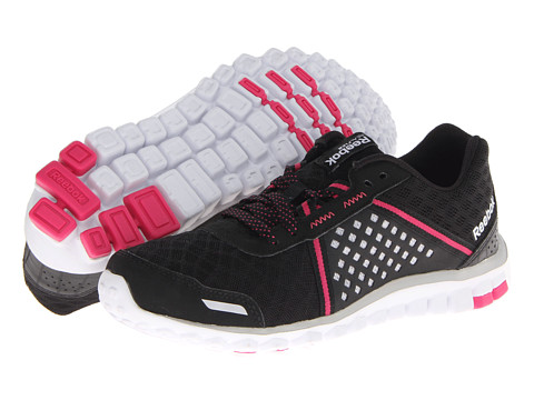 Reebok - Realflex Scream 4.0 (Black/Steel/Pink Fusion/White) Women's Running Shoes