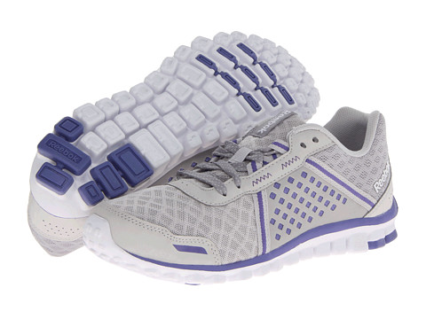 Reebok - Realflex Scream 4.0 (Steel/Flat Grey/Purple Vibe/White) Women