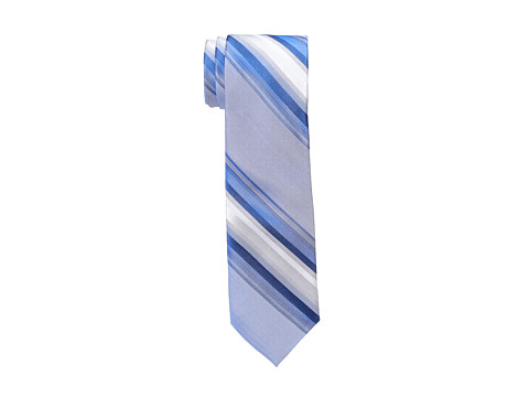 Calvin Klein - Silver Spun Stripes Slim (Navy) Ties