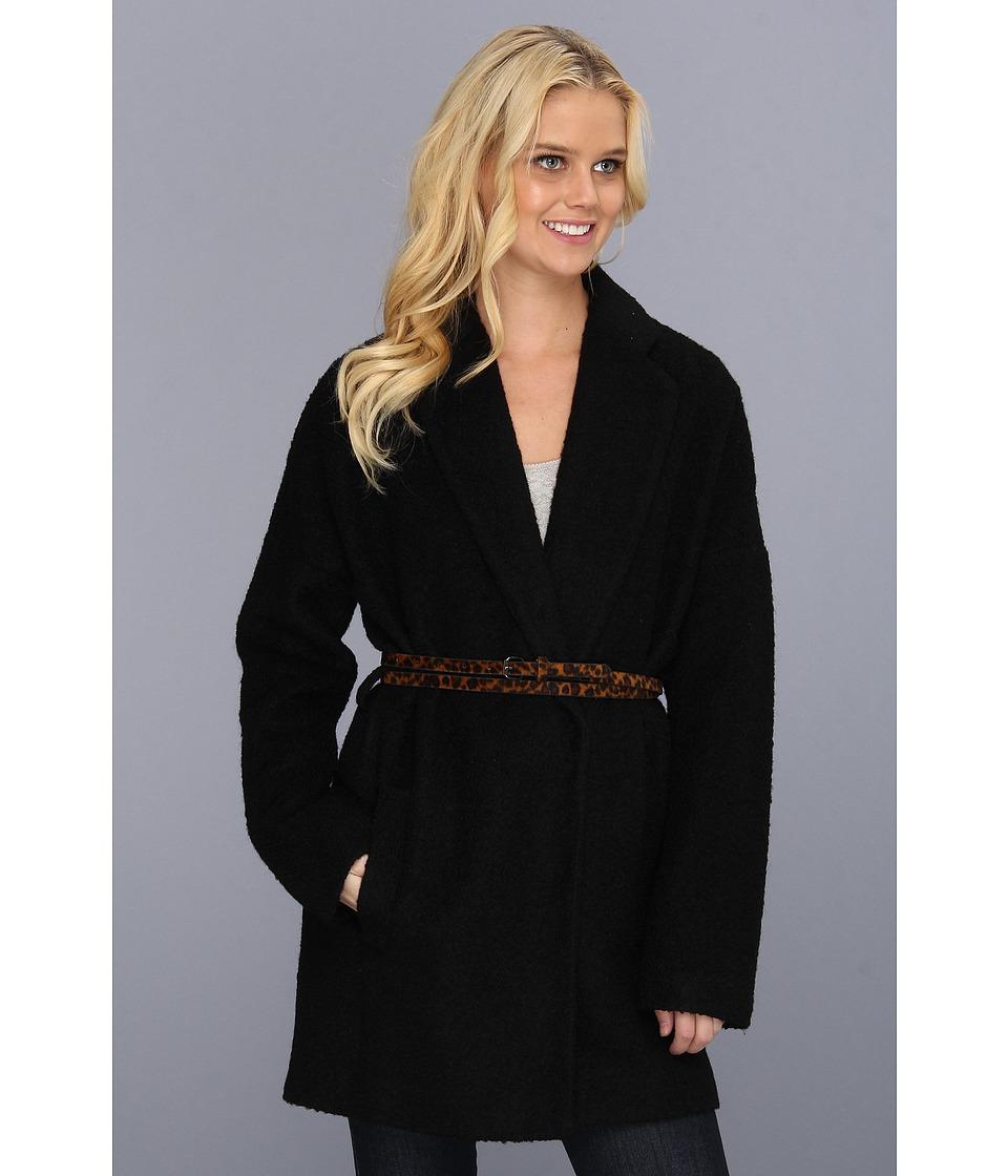 BCBGMAXAZRIA - Allesandra Classic Coat (Black) Women's Coat