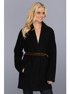 SALE! $119.4 - Save $279 on BCBGMAXAZRIA Allesandra Classic Coat (Black) Apparel - 70.00% OFF $398.00