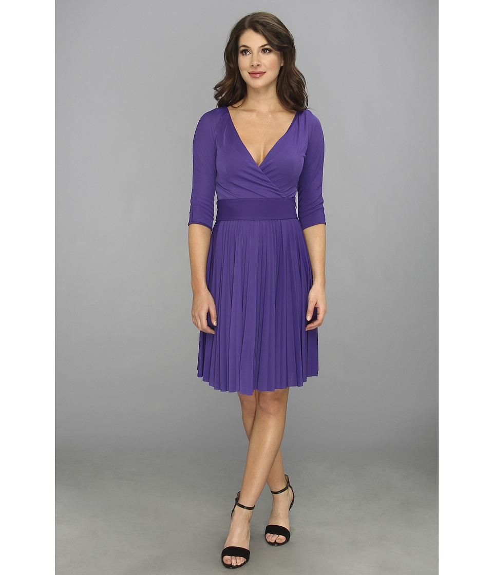 Image of BCBGMAXAZRIA - Cruz The Mid Sleeve Dress (Persian Blue) Women's Dress