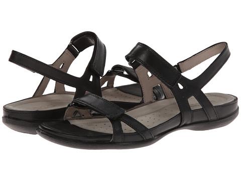 ECCO - Flash Ankle Sandal (Black Leather) Women