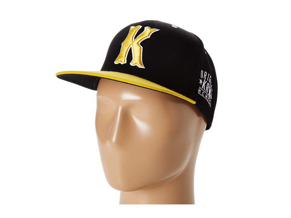 KR3W - Occult Snap (Black/Yellow) Baseball Caps