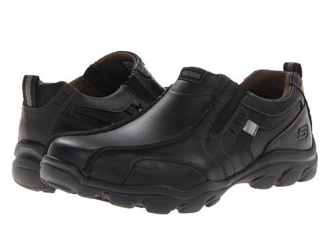 SKECHERS - Relaxed Fit Montz - Konic (Black) Men's Slip on Shoes