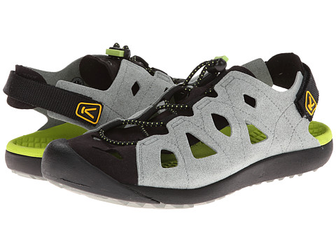 Keen - Class 5 (Neutral Gray/Lime Green) Women's Shoes
