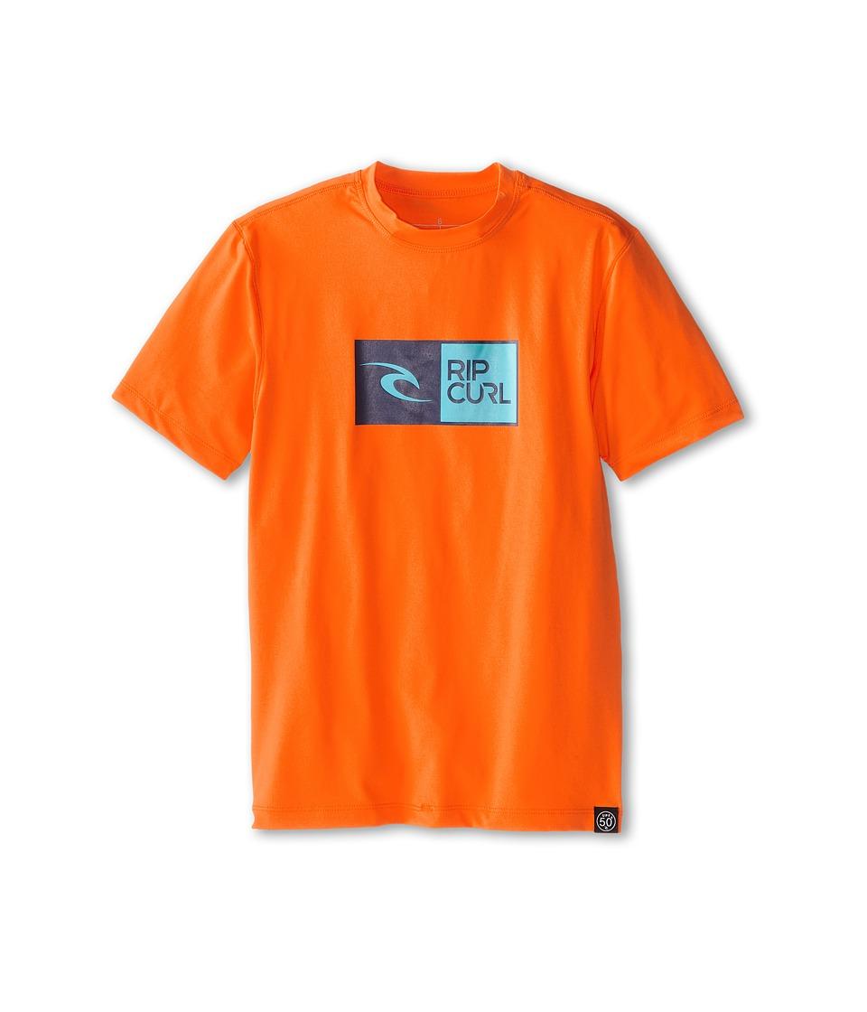 Rip Curl Kids Ripawatu S/S Surf Shirt Boys Swimwear (Orange)