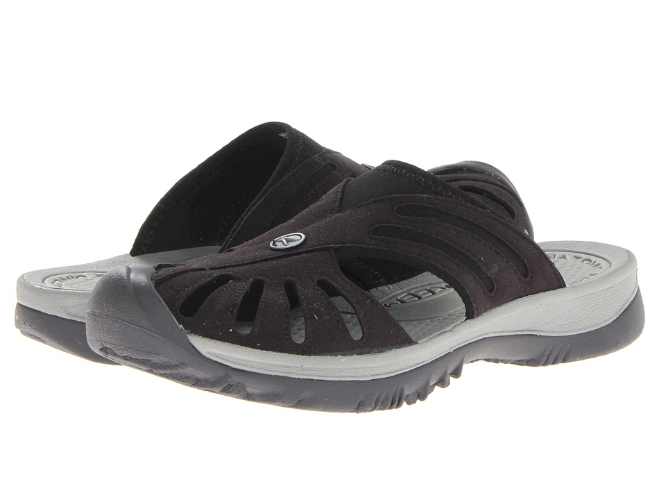 Keen Rose Slide (Black/Neutral Gray) Women