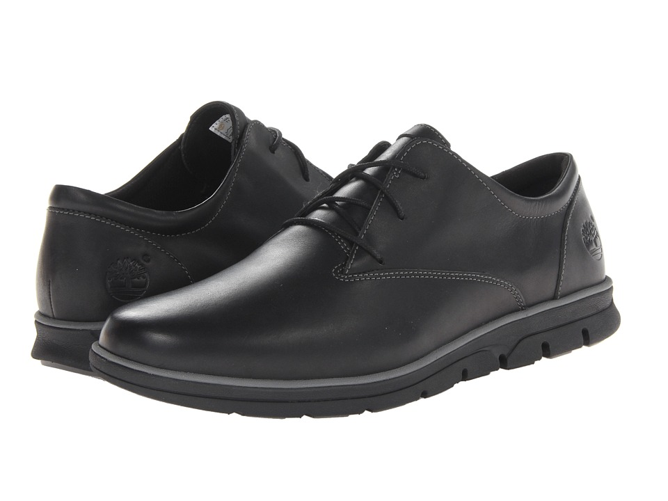 Timberland - Earthkeepers Bradstreet Plain Toe Oxford (Black Smooth) Men's Shoes