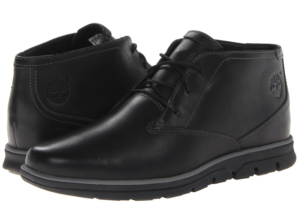 Timberland - Earthkeepers Bradstreet Plain Toe Chukka (Black Smooth) Men's Shoes