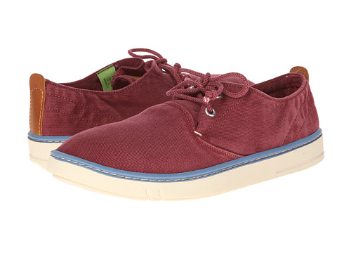 Timberland - Earthkeepers Hookset Oxford (Burgundy Washed Canvas) Men's Lace up casual Shoes