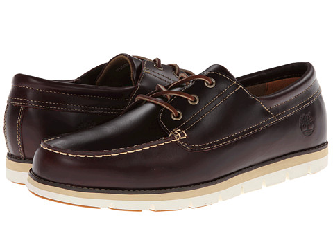 Timberland - Earthkeepers Harborside 3-Eye Leather Oxford (Burgundy Smooth) Men's Lace up casual Shoes