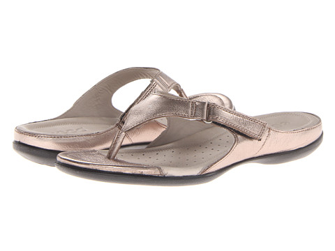 ECCO - Flash Thong (Warm Grey Metallic) Women's Shoes