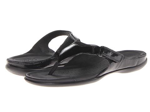 ECCO Flash Thong (Black Nap Lack) Women's Shoes