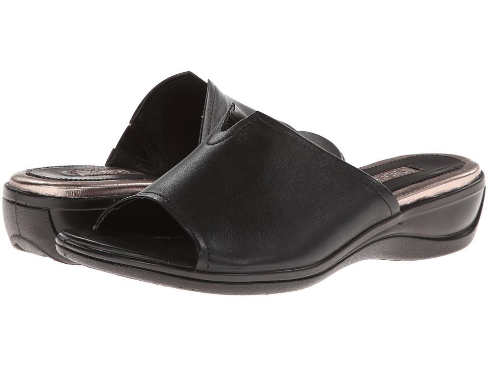 ECCO - Sensata Slide Sandal (Black Feather) Women