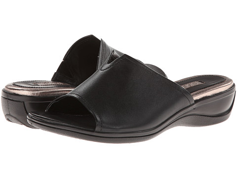 ECCO - Sensata Slide Sandal (Black Feather) Women's Shoes