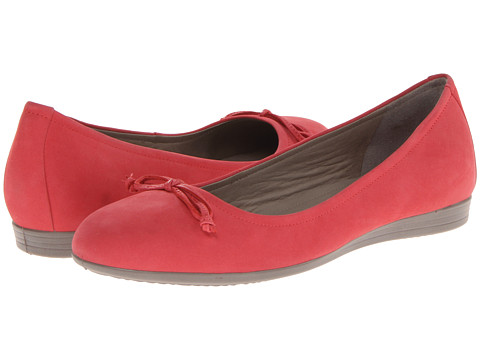 ECCO - Touch 15 Bow Ballerina (Teaberry Velvet) Women's Shoes