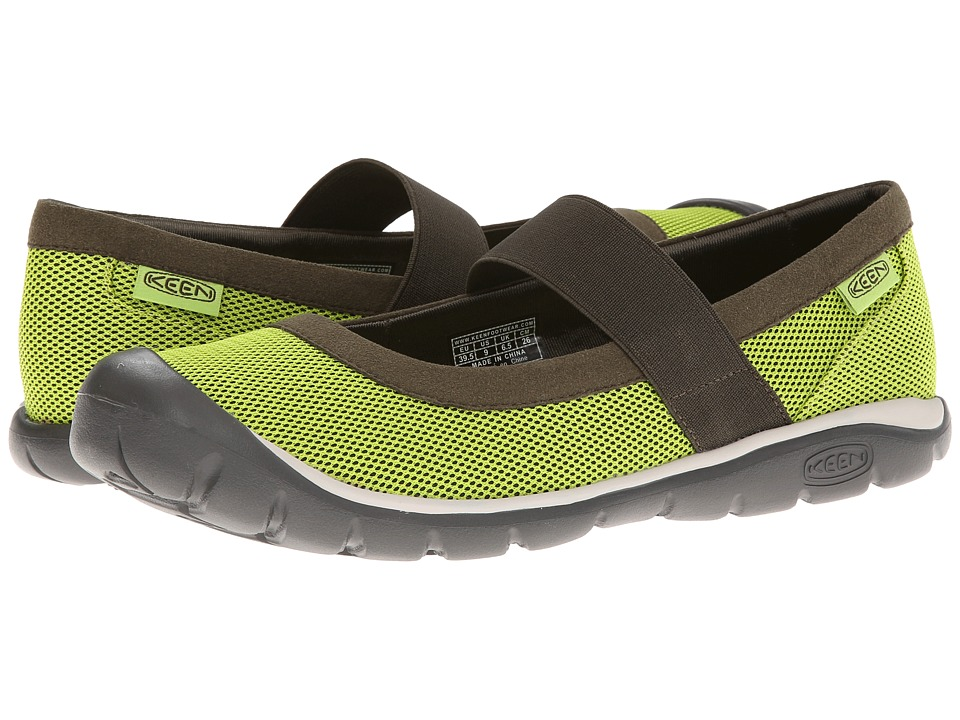 Keen - Kanga MJ (Lime Green/Forest Night) Women's Maryjane Shoes