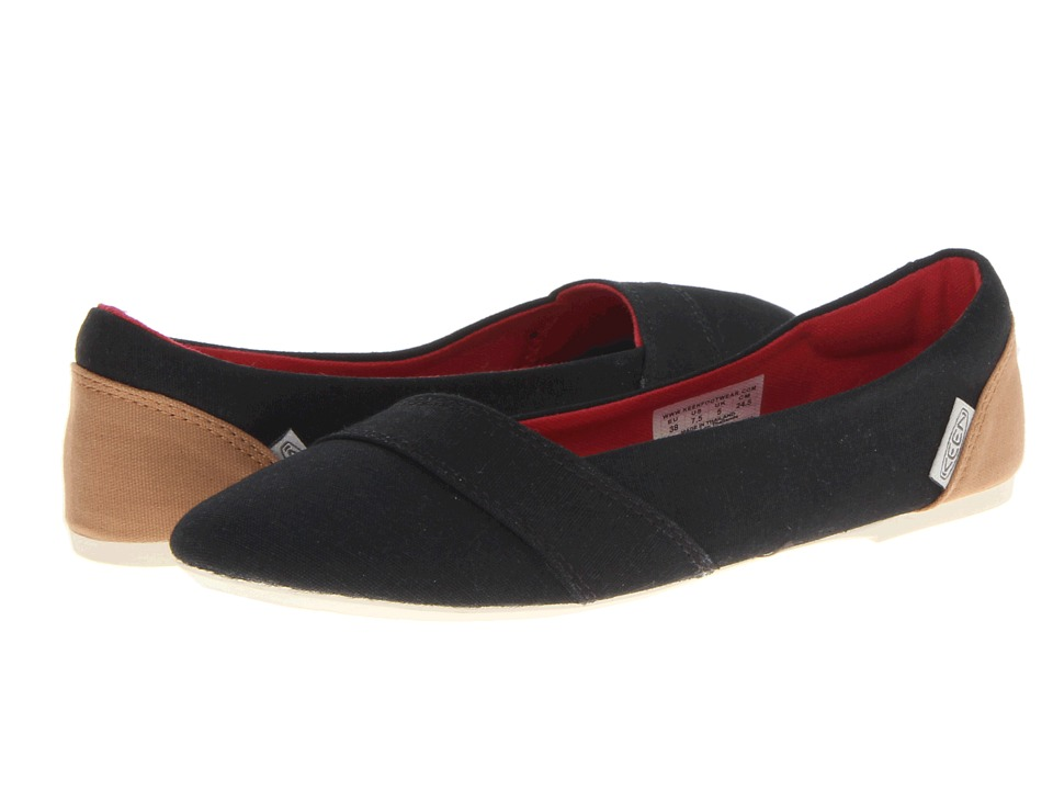 Keen - Cortona Ballet (Black) Women's Slip on Shoes