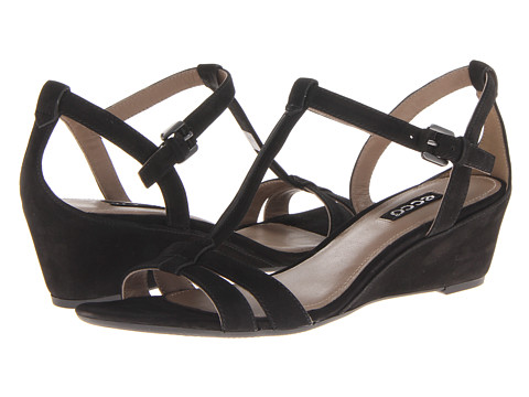 ECCO - Rivas 45 (Black Nubuck) Women's Sandals
