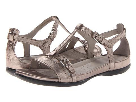 ECCO Flash T-Strap Sandal (Warm Grey Metallic Lexi) Women's Sandals